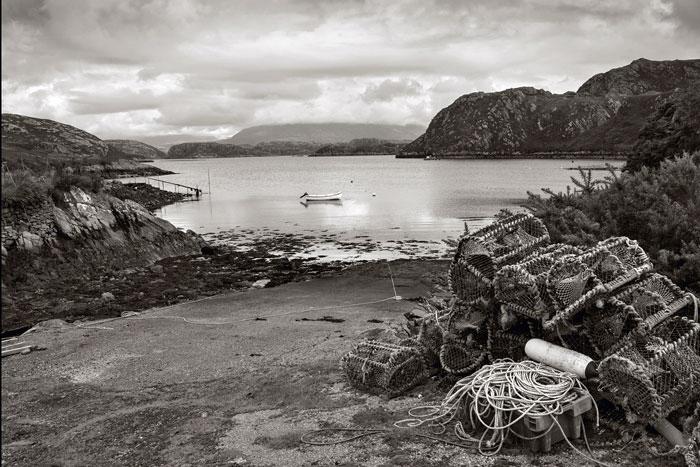 View over Loch Laxford. Sutherland, N W Scotland - Ref: 05543